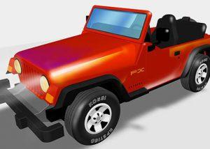 3D Jeep Illustration- Albuquerque