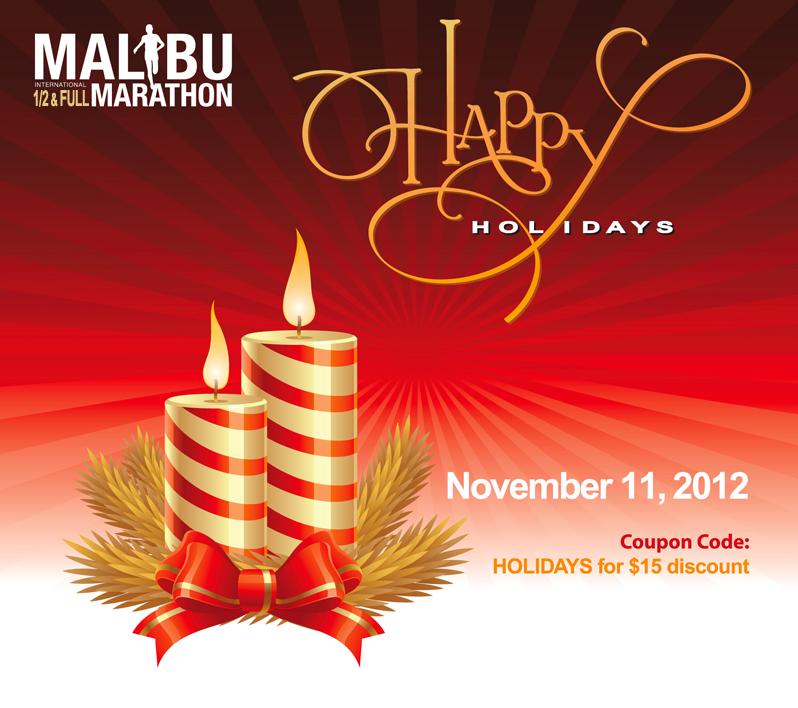 Malibu Marathon Holiday Card Design
