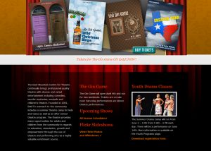 EMCT Theater Website Design