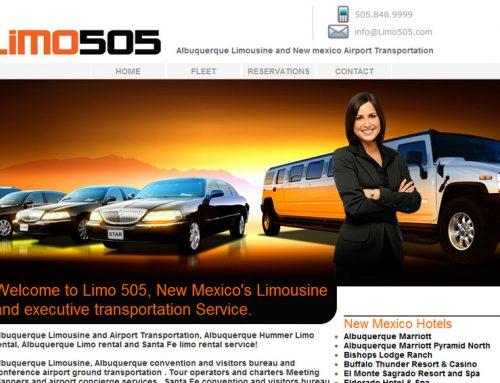 Limo505 – Albuquerque Limo Website Design