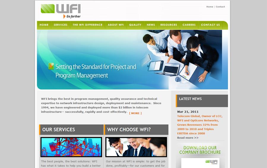 Wireless Industry Website Design