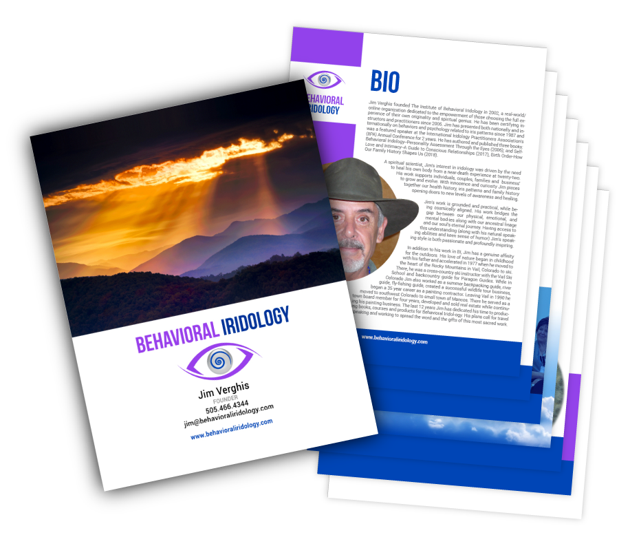 Behavioral Iridology Media Kit