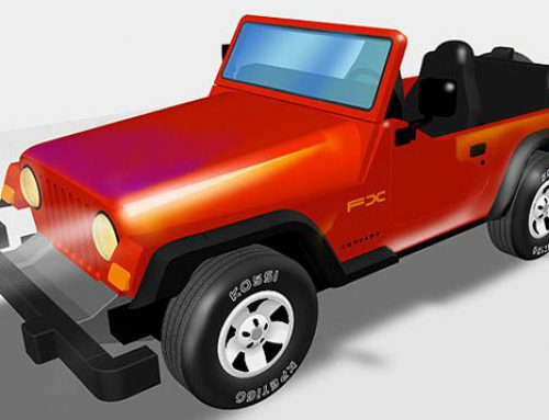 3D Jeep Illustration- Adobe Illustrator