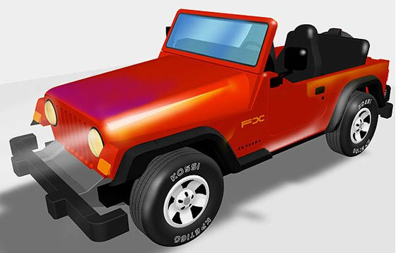 3D Jeep Illustration- Albuquerque