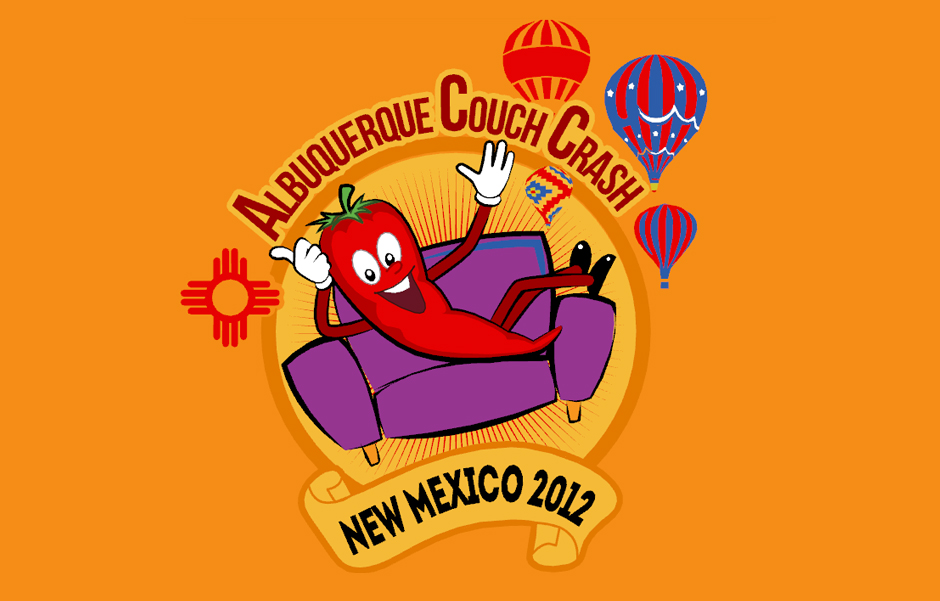 Albuquerque Couch Crash Logo Design