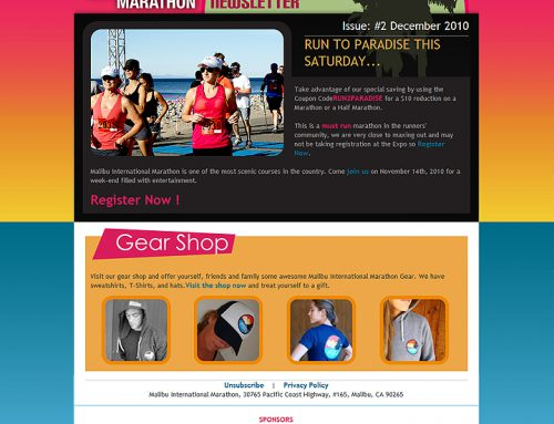 Malibu Marathon Newsletter