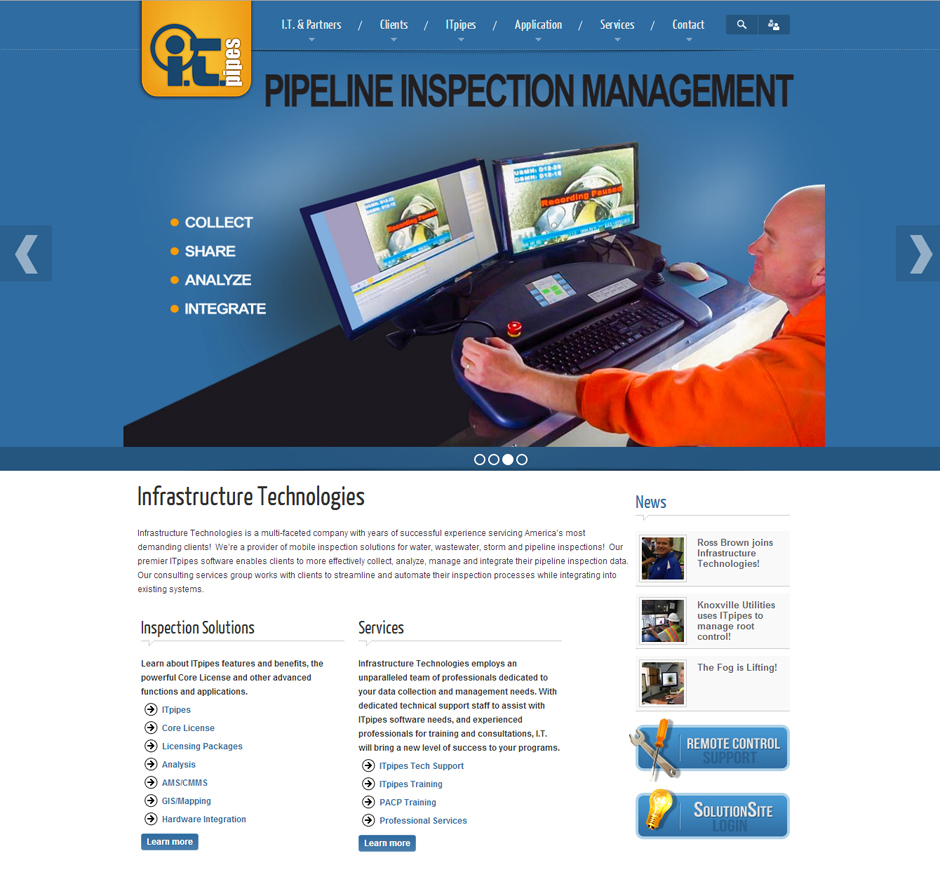 ITpipes – Software Industry Website Design
