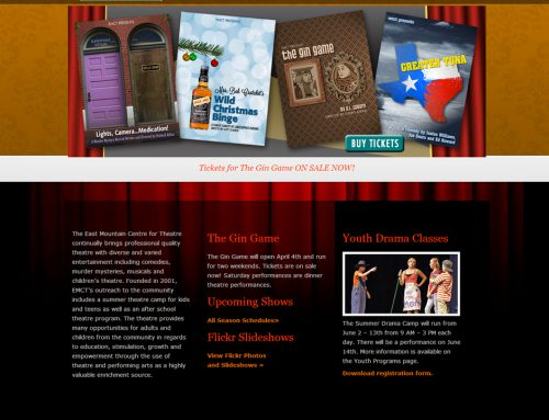 EMCT – Theater Website Design