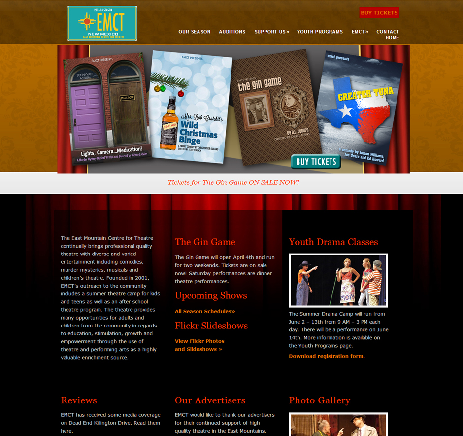 EMCT Theater Website Design