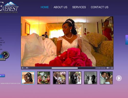 Everest Video Production – Wedding Videographer Website Design