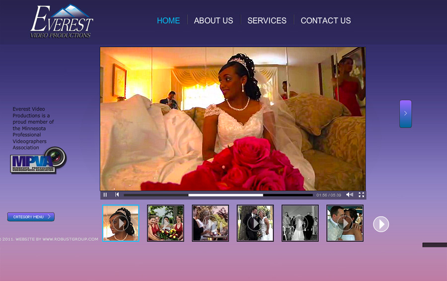 Wedding Videographer Website Design