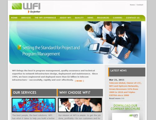 WFI net – Wireless Industry Website Design