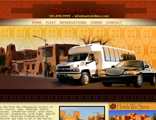 Santa Fe Limo Website Design