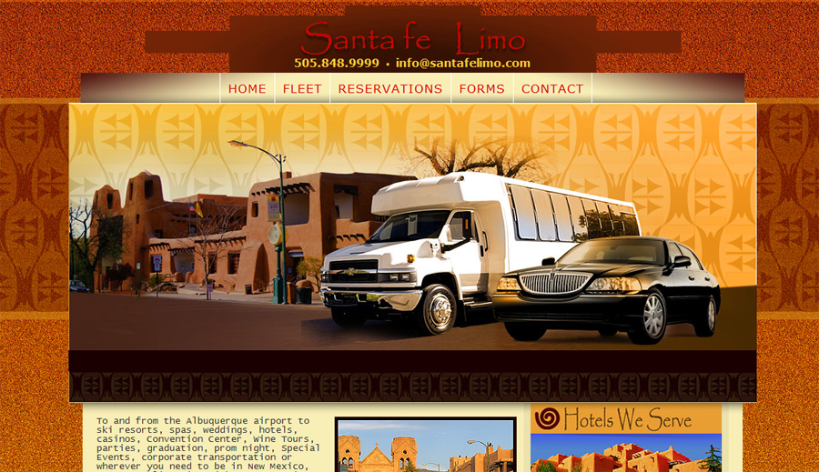 Santa Fe Limo Website Design
