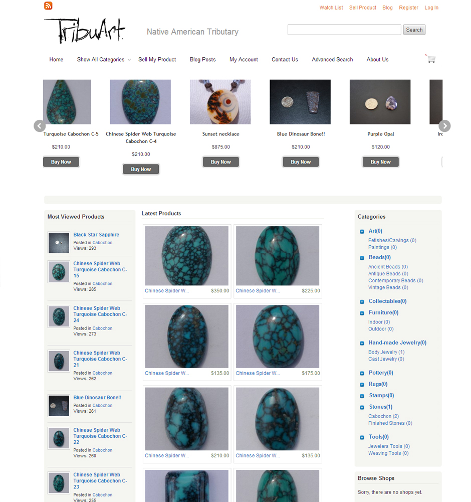 Tribuart eCommerce Website Albuquerque