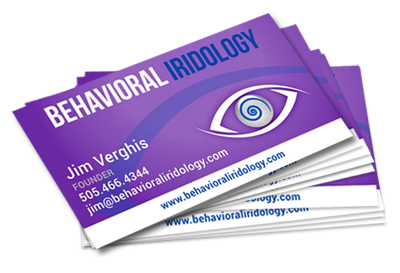 Behavioral Iridology Business Card