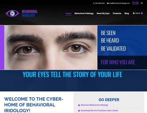 Behavioral Iridology ecommerce Website