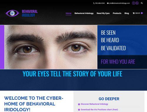 Behavioral Iridology ecommerce Website