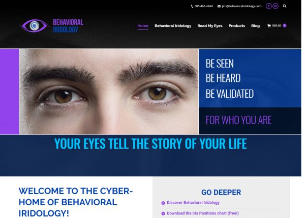 Behavioral Iridology Website