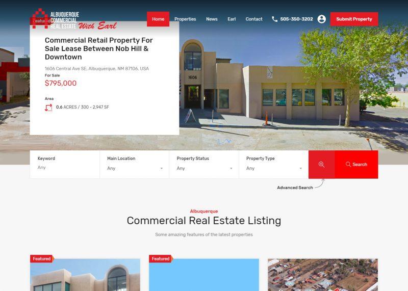 Albuquerque Commercial Real Estate Website