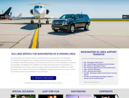 Aya Transportation – Black Car – SUV Transportation Service  Website