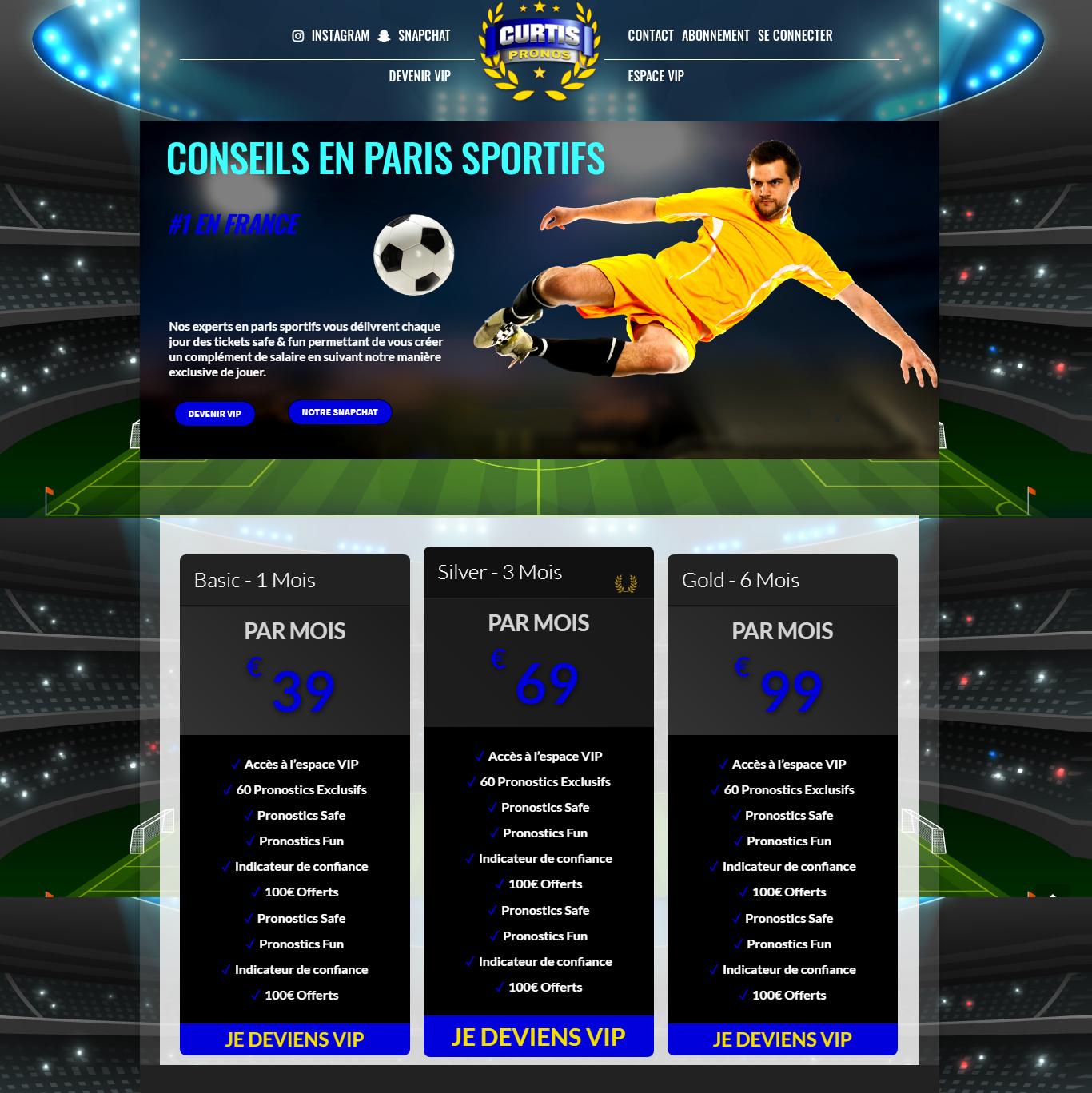 Sporting Prognosis Wordpress Website