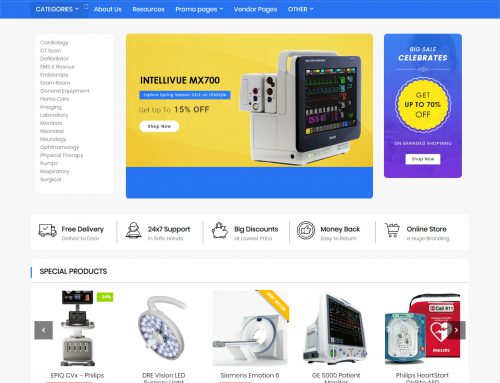Medical Equipment Ecommerce Website