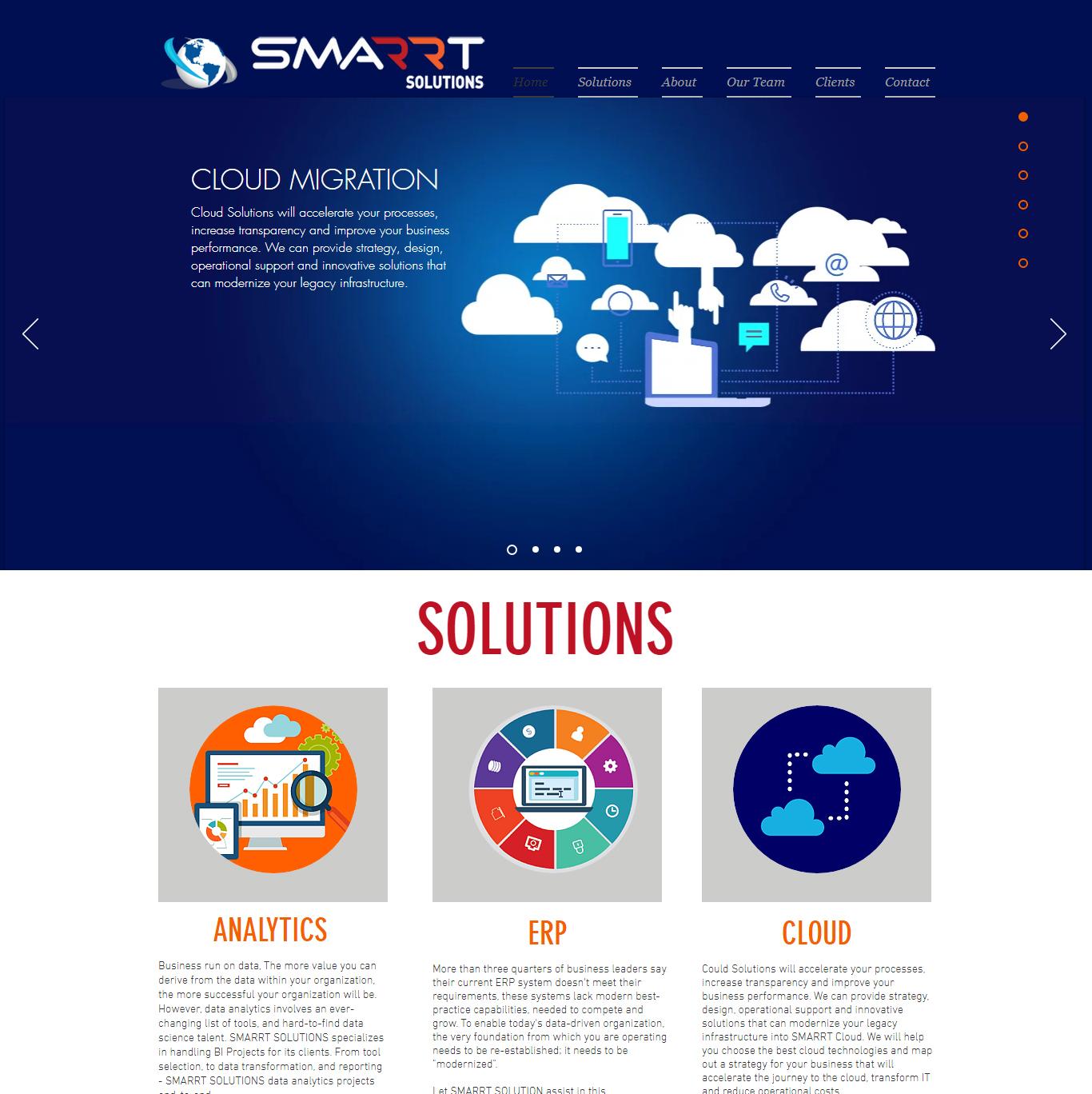 SMARRT SOLUTION - WIX WEBSITE